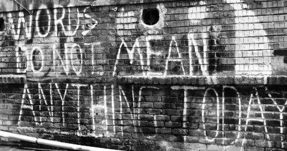 graffiti on an urban wall