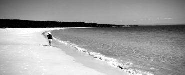 walking on a sandy beach