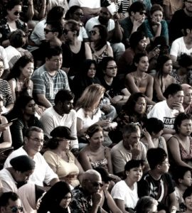 crowd at a ball game